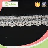 Cordón blanco del producto químico de la tela del cordón de la cuerda del cordón directo de la fábrica