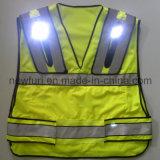 Haute visibilité LED clignotant Jaune Reflective Safety Waist Coat