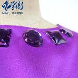 Vestito lungo dal tubo di modo sottile viola con rivestimento