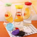 1 l de amostra de sumo de bebidas garrafa de vidro com tampa de plástico coloridas