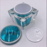 vaso di plastica cosmetico quadrato di 50g 100g