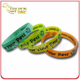 Mode couleur lumineux personnalisé logo imprimé Bracelet en silicone