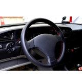 車のハンドルカバー36cm 38cm 40cmの直径のために合うMicrofiberによって打ち抜かれる革ハンドルバーのブレードのステアリング車輪カバー