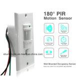 光量制御センサーが付いている自動壁の台紙の動きセンサースイッチ自動PIR赤外線センサーのスイッチを離れたの110V ~220V AC