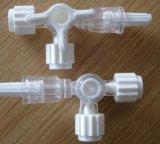precio de fábrica Three-Way la llave de paso con el tubo de extensión, el conector Luerlock