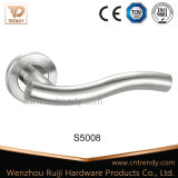 Ss304 201 Hollow Waved Type Door Lever Handle für Passage oder Exit (S5007/S02)