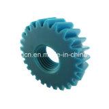 Piñón/engranaje plástico redondo negro de Derlin de 14 dientes para el motor eléctrico con la perforación rectangular