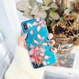 La luz azul de diamantes de la IMD Diseño elegante teléfono de los casos de TPU para iPhone x