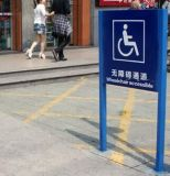 Segno Handicapped della via d'accesso della directory del basamento al suolo