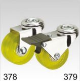 Gelbe Belüftung-Schwenker-Loch-Oberseite-Fußrolle