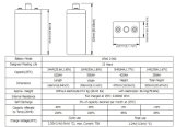 Opzs Série 2V500ah da bateria com as placas tubulares para a tevê Appliation de Telecome/UPS/Railway/Security/Medical/Alarm/Cable