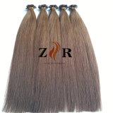 Da queratina européia de Prebonde do cabelo de Remy da cutícula extensões lisas desenhadas dobro do cabelo humano da ponta