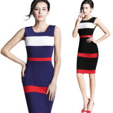 Signora Working Dress dell'ufficio dall'ufficio del vestito del vestito Sleeveless da Bodycon Nizza