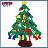 2017 el árbol de navidad del fieltro de los cabritos DIY fijó con el regalo de los ornamentos