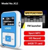 Leitor de MP3 portátil com gravador de voz/TF Card/Rádio FM (X12)