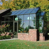 AluminiumglasSunroom mit großer Falz-Tür (FTS)