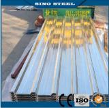 Tôle d'acier ondulée galvanisée enduite d'une première couche de peinture pour la feuille de toiture