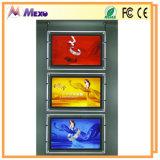 Caja de luz publicitaria ultra delgada de la foto de cristal LED (CSH01-A3L)