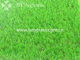 Erba artificiale d'abbellimento molle della decorazione del tappeto erboso sintetico (SUNQ-HY00182)
