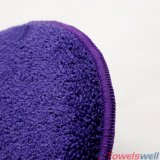 Blue Microfiber Round Because Cleaning Wash Sponge