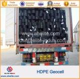 Lisse et texturée de géocellules PEHD utilisés dans la construction de routes