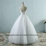 Pearl Crystal устраивающих кружево свадебные платья Lace Up назад