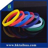 Wristband in bianco della gomma di silicone promozionale (TH-6919)