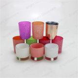 Bougie décorative Jar, porte-bougie en verre coloré