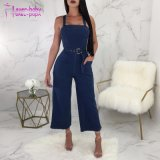 Larges bretelles Denim Jumpsuit