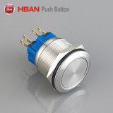 セリウムRoHS Certified 25mm 28mm Momentary LED Illuminated Metal Waterproof Push Button Switch