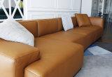 Insieme di cuoio sezionale del sofà di nuova e L-Figura moderna