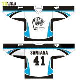 Comercio al por mayor camisetas Hockey equipo personalizada en blanco
