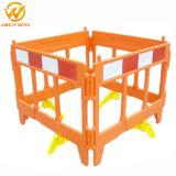 Local de construção da barreira de tráfego de plástico portátil Porta de Estrada