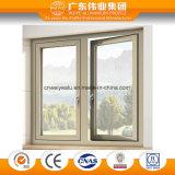 Hölzerner Korn-Oberflächen-Ton-Beweis-Aluminiumflügelfenster-Fenster