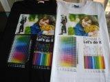 다채로운 디자인을%s 가진 기계를 인쇄하는 최신 평상형 트레일러 t-셔츠