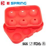 FDAの食品等級の習慣6の球の皿メーカー型のシリコーンの角氷の皿