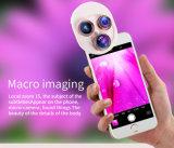 4 en 1 clip de la lente del paisaje en la lente del teléfono de los pescados Eye+Macro de la lente