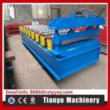 Dach-Stahlfliese-Walzen-Presse, die Maschine bildet