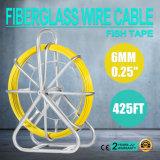 """6mm 0.25 """" пулера штанги кабельной проводки стеклоткани ленты рыб кабельной проводки стеклоткани 425FT"""