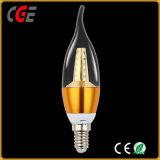 Indicatore luminoso della candela della lampada 4W E14 /27 C35/C37 LED della lampadina del filamento del LED per il lampadario a bracci