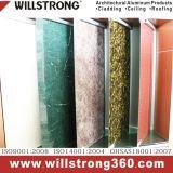 Textura de metal 3mm y 4mm Panel ACP en la cocina fachadas arquitectónicas dosel de los paneles de señalización de techo Fachadas ventiladas