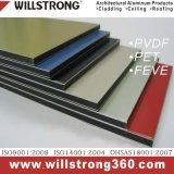 PPG PVDF ACP Sistemas de pared de revestimiento de fachadas arquitectónicas dosel de los paneles de señalización de techo Fachadas ventiladas