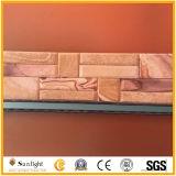 Roze/Steen van de Cultuur van het Vernisje van de Steen van de Muur van het Kwartsiet Yellow/White de Ledgestone Gestapelde