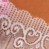 Tissu bleu et jaune de la broderie la plus neuve de fleurs de modèle de lacet à vendre