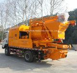 움직일 수 있는 100kw 발전기를 가진 트럭에 의하여 거치되는 구체 믹서 펌프