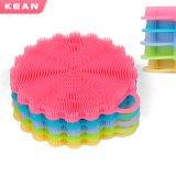 Cocina de calidad alimentaria lavar la olla de la herramienta Pincel de silicona para lavar la vajilla