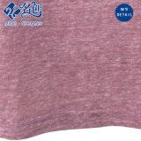 Blusa floja de las señoras de la manera del algodón del V-Cuello de la Mediados de-Funda púrpura