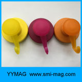 Aimant en néodyme solide recouvert de caoutchouc crochets, Ultra crochet magnétique à usage intensif