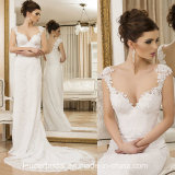 La protezione collega il vestito con un manicotto da cerimonia nuziale del fodero del merletto dell'abito nuziale Y1647
