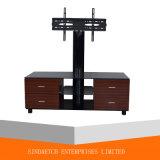 Basamento usato mobilia di legno semplice di vetro TV dei basamenti dell'affissione a cristalli liquidi TV con il cassetto 2